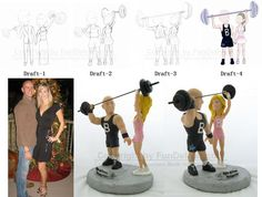Fitness Trainer Cake Toppers, Personal Trainer Cake Tops, Bodybuilder Cake Toppers