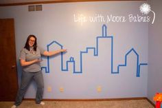 bat signal wall decal | and put back together, I adhered a cute little bat signal vinyl decal ...