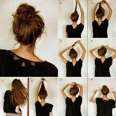 Znalezione obrazy dla zapytania proste upięcie włosów do ramion