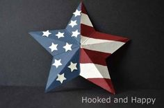 3D Cereal Box Star by hookedandhappy: Happy July 4th!      DIY
