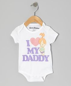 Look at this White 'I Love My Daddy' Pebbles Bodysuit - Infant on #zulily today!