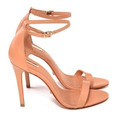 love this color. especially for us short girls. Sock Shoes, Shoe Boots, Shoes Sandals, I Love My Shoes, Me Too Shoes, Ankle Strap Heels, Ankle Straps, Cute High Heels, Girls Heels