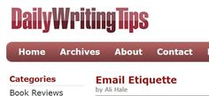 email etiquette and examples Cover Letters, Etiquette, Tips, Presentation Cards, Advice