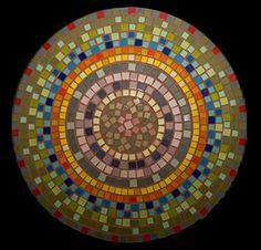 Tampo de mesa redondo de Mosaico