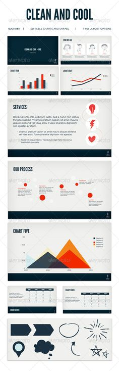 Clean and Cool  - Keynote Templates Presentation Templates