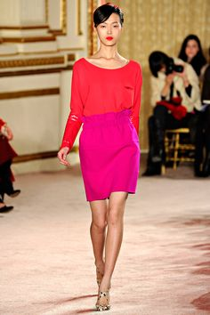 Thakoon Fall 2012 Ready to wear - Love the red and pink n the wild touch !