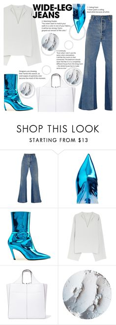"""""""Wear with Flare"""" by katerin4e-d ❤ liked on Polyvore featuring RE/DONE, Balenciaga and Victoria Beckham"""