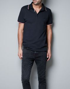 gonna buy this one if available..  NEEDLECORD POLO SHIRT WITH APPLIQUÉS - T-shirts - Man - ZARA United States