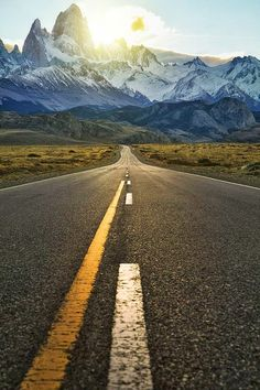 The Road to Monte Fitz Roy, Patagonia, Argentina. My favorite place! Would love to go back someday.