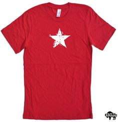 White Star T-shirt cool graphic tee hollywood shirt