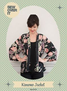 Meet our new spring favourite… the Kimono Jacket is here!   Update your handmade wardrobe this spring with the Kimono Jacket, the perfect piece for layering in style!  Stylish, flattering and comfort