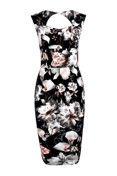 Ivy Floral Print Sweetheart Midi Bodycon Dress alternative image