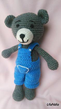 Teddy bear amigurumi, crochet toy