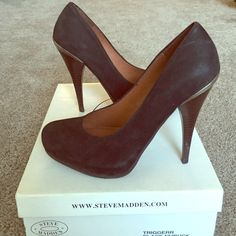 Steve Madden Black Nubuck Heels Black suede pumps by Steve Madden.. Wooden heel. Good gently used condition I just have way too many black pumps! Round toe. These can be transformed easily from day to night. No trades! Steve Madden Shoes Heels