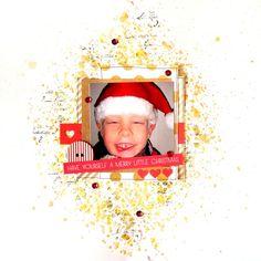Päivis blogg ARTastic December challenge #scrapbooking #scrapbookinglayout #mixedmedialayout