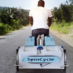 spincycle washing machine - exercise and wash clothes at the same time!