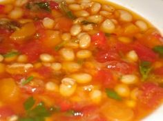 Bean Soup (Fasolada). This is a simple and extremely popular dish - some people say that this, in fact, is the real Greek national dish!