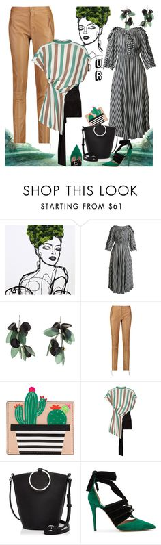 """""""This or That"""" by petalp ❤ liked on Polyvore featuring Sonia Rykiel, Marni, Roberto Cavalli, Kate Spade, Loewe, Street Level, Valentino and ootd"""