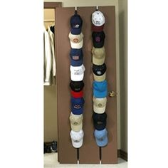 Over The Door Hat Rack Interesting Organize Your Baseball Hats With An Over The Door Cap Organizer Design Inspiration