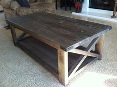 rustic coffee tables | Rustic X Coffee Table | Do It Yourself Home Projects from Ana White