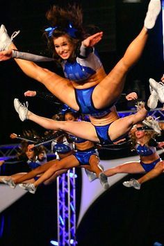 cheer, cheerleading and jumps image on We Heart It Cheer Jumps, Cheerleading Jumps, College Cheerleading, Cheer Stunts, Cheerleading Outfits, Cheerleader Girls, Cheerleading Pyramids, Cheerleading Photos, Cheer Athletics