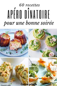 60 recipes for a dinner aperitif , Easy Smoothie Recipes, Healthy Dinner Recipes, Healthy Snacks, Fingers Food, Guacamole Recipe Easy, Batch Cooking, Appetisers, Tostadas, Beef Recipes