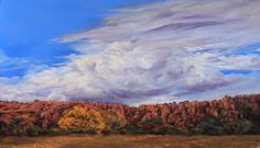 """""""Old Texas Giant"""" is a 14"""" x 24"""" pastel I did in early 2014. The weather was frigid and I was probably subconsciously channeling sunny autumn days in Fort Davis. ( $2800 unframed)  Lindy Cook Severns Fine Art - Old Spanish Trail Studio, Original Paintings  SOLD"""