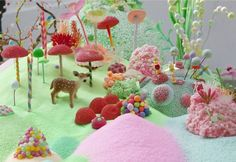 Australian artists Tanya Schultz and Nicole Andrijevic create massive, colorful installations under the name Pip & Pop