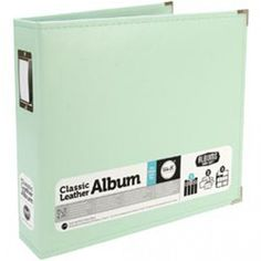 "We R Faux Leather 3-Ring Binder 12""X12""-Mint"