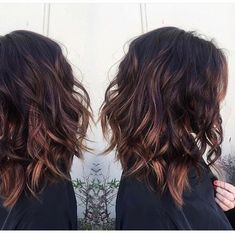 33 trendy ombre hair color ideas of 2019 - Hairstyles Trends Medium Hair Styles, Curly Hair Styles, Hair Medium, Brunette Hair, Long Brunette, Great Hair, Fall Hair, Ombre Hair, Hair Lengths