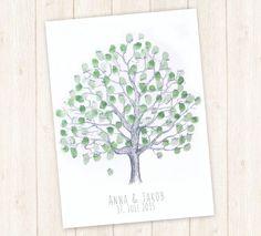 Wedding Tree Hochzeit Gästebuch Baum Fingerabdruck von guestbook.tree.manufaktur auf DaWanda.com