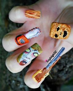 Evil Dead nails #nailart #cool