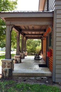 brown soffit front porch ceiling | beautiful | outdoor design ... - Patio Ceiling Ideas