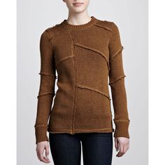 MICHAEL KORS Women's Crewneck Sweater - Antelope (X-SMALL)
