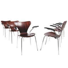 3207 Armchairs by Arne Jacobsen | From a unique collection of antique and modern armchairs at https://www.1stdibs.com/furniture/seating/armchairs/