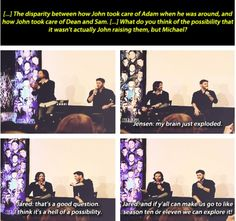 NJCon2013--discussing the possibility that John might have been Michael, and Jensen's brain exploding ;D