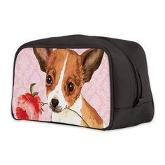 Chihuahua Rose Toiletry Bag