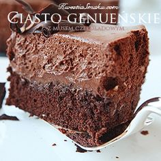 My Favorite Food, Favorite Recipes, Kitchen World, Different Diets, Mousse Cake, Polish Recipes, International Recipes, Amazing Cakes, Chocolate Cake