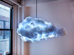 #lighting Inspired by a thundercloud, 'The Cloud' is a lamp with speaker.