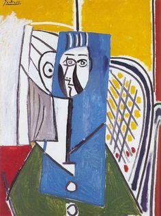 Pablo Picasso. Portrait de Sylvette David 26. 1954 year