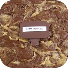 Home Made Creamy German Chocolate Fudge - 1 Lb Box. Available in over 70 different flavors! Each has its own picture. Only $14.99 for one 1 lb box of fudge plus shipping ($8.95 on entire order! *continental U.S. only)