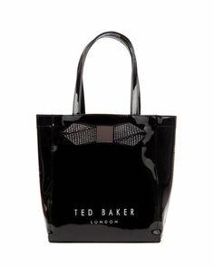 d9cfde61a3 TICON - Small metallic bow ikon bag - Black | Womens | Ted Baker UK Shopper