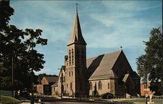 Christ Episcopal Church, Westerly Rhode Island #throwbackthursday #vintagepostcard #episcopalchurch