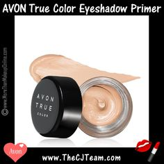 True Color Eyeshadow Primer. Avon. Set the scene for a beautiful gaze. Prepare a seamless canvas and make your eyes the focus with the lightweight eyeshadow primer, perfect to extend the wear of pigment-rich shadows for every easy eye look you create. Helps prevent fading and creasing. Regularly $8. Shop online with FREE shipping with any $40 online Avon purchase.  #Avon #CJTeam #Sale #TrueColor #Cosmetics #Eyes #EyeShadow #Primer #Makeup #Cosmetics #Avon4Me #C15 Shop Avon Cosmetics online…