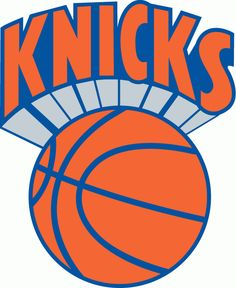 NBA New York Knicks Primary Logo (1977) - Knicks in orange over an orange basektball