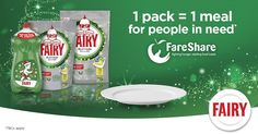 We've teamed up with Fairy and Tesco, for an exclusive Christmas promotion to help provide meals for people in need. Christmas Fairy, People In Need, Coconut Water, Promotion, Product Launch, Meals, Inspiration, Power Supply Meals, Biblical Inspiration