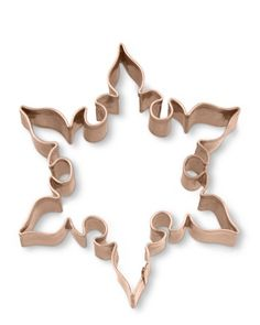 Intricate Copper Cookie Cutter from Williams Sonoma. Moroccan in style