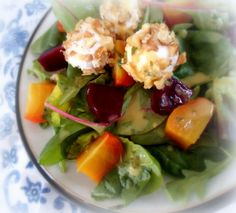 Maries beet root and goat cheese salad