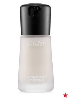 The only primer that does pretty much everything for your skin. Apply MAC Mineralize Timecheck lotion before applying makeup and all day the formula will work to minimize pores, blur lines and wrinkles and create an amazing cooling effect.