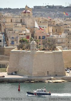 A pilot boat steams past Senglea on its way to escort a ship into Grand Harbour on September 5. Photo: Chris Sant Fournier